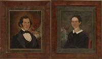 portraits of mr. and mrs. j.p. johnson (pair) by william matthew prior
