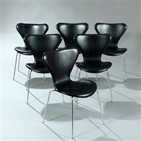 syveren (model 3107) chairs (set of 6) by arne jacobsen