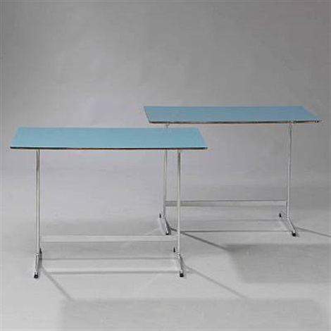 coffee tables pair by arne jacobsen