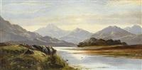 weite englische berglandschaften (pair) by george dunlop leslie