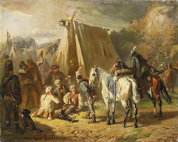 friderizianische soldaten by hans von marées