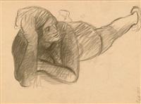 figura distesa by achille funi