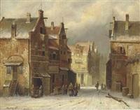 a winter landscape by hendrik kluyver
