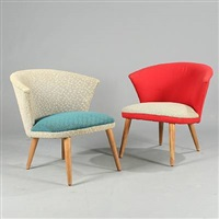 tv chair easy chairs (pair) by bent møller jepsen