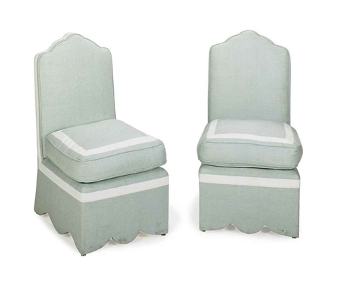 slipper chairs pair by jeffrey bilhuber