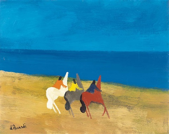 cavallini al mare by gianrodolfo d'accardi