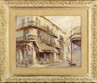 street corner, french quarter, new orleans by arnold e. turtle