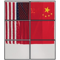 three flags for 1 space and 6 regions (in 6 parts) by vito acconci