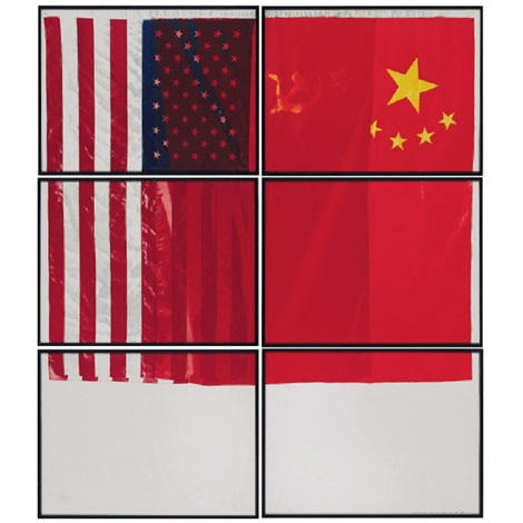 three flags for 1 space and 6 regions in 6 parts by vito acconci