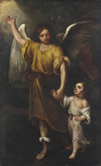 tobias and the archangel by guercino