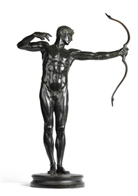 model of the archer, teucer by sir william hamo thornycroft