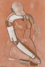 kniende figur by edgar augustin