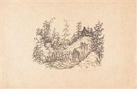 lithographien (8 works) by rolf von hoerschelmann