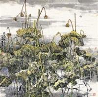 荷塘秋色图 (lotus) by liang liansheng