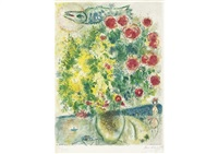 roses et mimosas from nice et la cote d'azur (by sorlier) by marc chagall