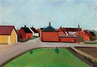 street with houses by søren hjorth-nielsen
