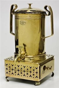 a coffee urn and konfoor (set of 2) by johannes frederik staal
