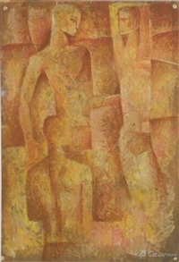 three figures by viktor semenov