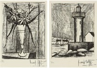flower; tower (2 works) by bernard buffet