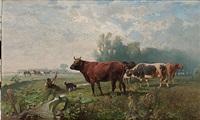 landskap med kor by hans (johann) haag