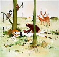 altid kom dyrene til hende, når hun havde allermest brug for det (the animals always came to her when she needed it the most) by kathrine ærtebjerg