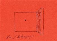 ohne titel (w/exhibition flyer) by richard artschwager
