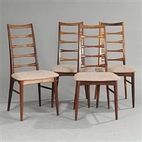 lis side chairs (set of 4) by niels koefoed