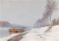 wintertag an der seine bei asnières by alexandre jacob