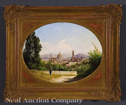 view of florence from the boboli gardens by guido agostini