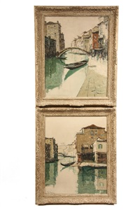 views of venice (pair) by giuliano manoni