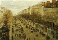paris, boulevard montmartre by paulin andre bertrand