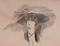 signora con cappello by giovanni boldini
