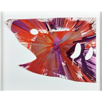 shark spin painting (created at damien hirst spin workshop) by damien hirst