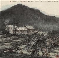 山村图 (landscape) by xu guoxiong