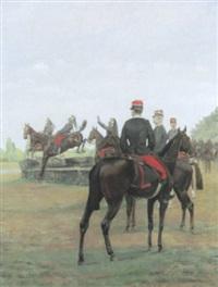 kavallerie auf dem parcours by pierre petit-gérard