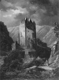 mittelalterliche burg in gebirgslandschaft by gustav zick