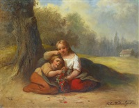 kinderpaar by félix van den eycken