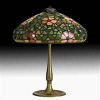 table lamp with apple blossom shade by riviere