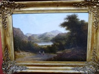 view of helvellyn, with ullswater by thomas christopher hofland
