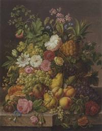 blumen- und früchtestillleben by f. mock