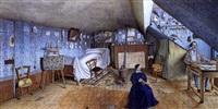 la boheme: vue d'une chambre d'artiste by gustave sanier