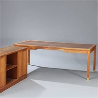 free-standing desk and sideboard by rolf middelboe and gorm lindum