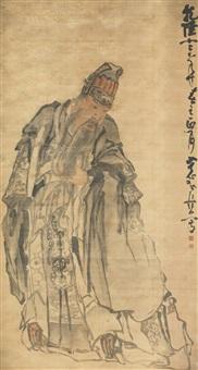 portrait of guan yu by huang shen