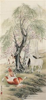 四骏图 (horses) by ji kang