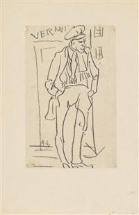ohne titel (mann mit zigarette) by max ackermann