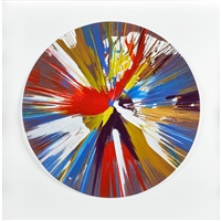circle spin painting (created at damien hirst spin workshop) by damien hirst