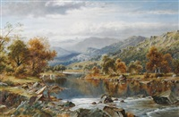 valley of the lledr by william henry mander