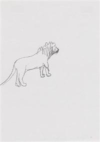 ohne titel (löwe) by stephan balkenhol