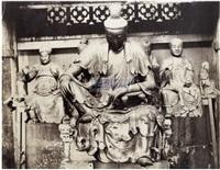 越秀山上的寺庙佛像 by milton m. miller