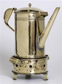 a coffee pot and konfoor (set of 2) by johannes frederik staal